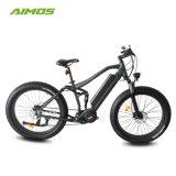 Bicicletta elettrica della nuova della sospensione di AMS-Tde-14b 2017 della bici 250W METÀ DI del motore montagna grassa elettrica piena della gomma