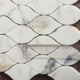 Disegno delle mattonelle della parete di figura della lanterna del marmo del mosaico dell'oro di Calacatta