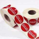 Etiquetas impressas em um rolo em GUANGZHOU