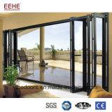 Puerta de aluminio del metal con el vidrio templado/Inferior-e de la capa doble