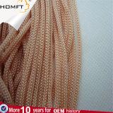 Rosafarbene runde Polyester-Zeichenkette-umsponnenes Seil/Netzkabel