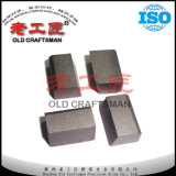 Tipo lâmina soldada do carboneto de tungstênio Yg6 D para o torno