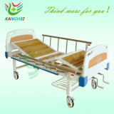 2개의 크랭크 Slv-B4022를 가진 병원 Expoxy 강철 수동 의학 침대