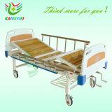 L'hôpital manuel d'acier Expoxy lit médical avec deux manivelles SLV-B4022