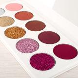 Fabricante de cosméticos Customized 10 cores de alta Eyeshadow pigmento e cintilante Paleta Eyeshadow Private Label