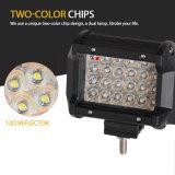 Neuer Doppelfarben-Cer RoHS PUNKT genehmigte 4 Zoll der Reihen-72W 4 nicht für den Straßenverkehr CREE LED Arbeits-hellen Stab für LKW-Auto fahrend Röhrenblitz