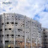 Folha ondulada de alumínio do painel da fachada do metal