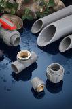 금관 악기 계획 80 (ASTM D2467) 미끄러짐 x NPT를 가진 시대 평화로운 시스템 PVC 관 이음쇠 남성 접합기