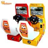 새로운 도착 아케이드 자동차 경주 시뮬레이터 전기 게임 아이 위락 공원을%s 동전에 의하여 운영하는 자동차 경주 게임 기계