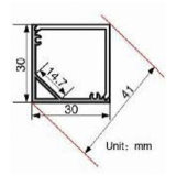 Profil en aluminium d'aluminium de l'extrusion DEL du coin 4139 carré