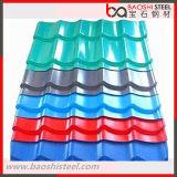 Azulejo de material para techos acanalado de acero de PPGI