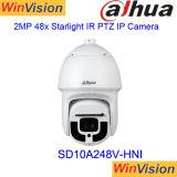 Dahua SD10A248V-Hni 2MP 48Xの屋外のドームのスターライト450m IR IPのカメラPTZ