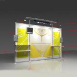 Suporte de cabine de Exibição de exposições de alumínio com caixas de brochura e Slatwall