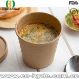 16oz el papel de estraza caliente aislado de la sopa de miso Bowl
