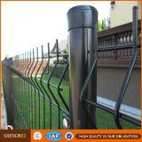 Cerca revestida verde del acoplamiento de alambre del jardín del hierro del PVC