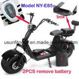 Самокат мотоцикла новой конструкции 2018 электрический с 2unit извлекает батарею для взрослого