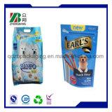 Sacchetto sigillato quadrato dell'alimento di cane dell'animale domestico con il rinforzo laterale