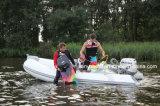 Liya Fibra de vidrio de 3,8 millones de bote inflable rígido Rib botes inflables