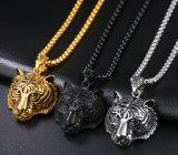 Monili Pendant di Neklaces di nuova di arrivo delle catene delle collane del motore del motociclista della catena del metallo della tigre figura punk unisex della testa