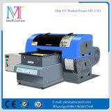 Kleiner LED-UVtintenstrahl-Drucker, Flachbettgrößen-Digitaldrucker der maschinen-A3 für irgendwelche harten Materialien, mit fünf Farben und hoher Auflösung