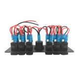 Прерыватель цепи переключателя автомобиля с помощью вольтметра 6 батарей кулисный переключатель 12V светодиодная панель с красочными лампа