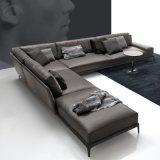 Sofá de couro secional para a sala de visitas da casa