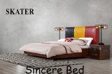 Самомоднейшая американская мебель A28 спальни кровати кожи кровати ткани типа