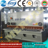 Máquina hidráulica QC12 da placa do feixe do balanço do CNC do corte e de estaca