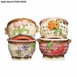 Flowerpot carnoso Handmade del disco del fiore di stile coreano