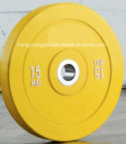 Disco Bumper della gomma di addestramento di forma fisica del piatto del Barbell della costruzione di corpo di colore di gomma del piatto
