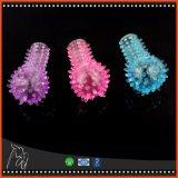 Brinquedos de vibração do sexo do anel de dedo do mini silicone fêmea do Masturbation do Stimulator de Clit do Massager do G-Ponto do vibrador do dedo para mulheres