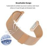 Cinturino ionico milanese dell'acciaio inossidabile della cinghia di Fitbit dell'oro della Rosa