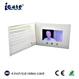 Поздравительная открытка LCD горячего приглашения брошюры сбывания 2017 видео-