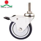 가구를 위한 TPR 스테인리스 빛 의무 피마자 바퀴