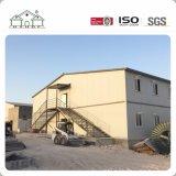 Große Überspannungs-Zwischenlage-Leuchte-Stahlkonstruktion-Lager-Fertighaus in Duoha für Arbeitskräfte