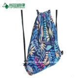 キャンバスのドローストリングのバックパック袋のための2017の習慣の高品質花の塗られたデザイン秘密パケット