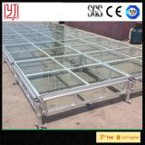 Estágio de vidro de alumínio para a mostra de carro