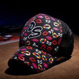 Insignia y diseño impresos negro de Witn Customed de la gorra de béisbol