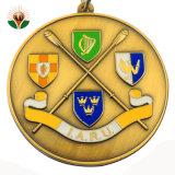 Het gouden Medaillon van het Metaal van de Douane voor Sport met Lint