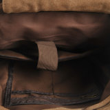 Zaino pesante del tessuto di svago con il sacchetto di banco dell'inarcamento del metallo della cinghia di cuoio (RS-1039)