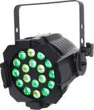 PARIDADE clara do diodo emissor de luz de 18X15W RGBWA+UV 6in1 para a iluminação do estágio