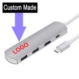 fait sur mesure en aluminium USB USB de type C C C le type de concentrateur LAN et 2 ports USB 3.0 HDMI Type-C dans l'appui de charge et de la transmission de données