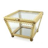 Più nuovo contenitore di monili di vetro trasparente per il regalo di cerimonia nuziale