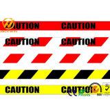 De gele Band van de Voorzichtigheid, Gevaar die Weerspiegelende Banden waarschuwen