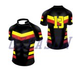 Classico progettare la corsa per il cliente della camicia di rugby per gli uomini