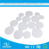 PVC Tag ronde de petite taille personnalisée 125kHz TK4100 pièce de monnaie de carte RFID