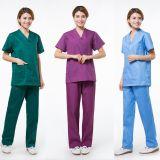 L'infermiera lavabile riutilizzabile medica del cotone frega il vestito