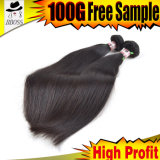 Cabelo malaio de Janet 3 pacotes, cabelo malaio 7A