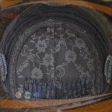 Cappello a cilindro brasiliano della chiusura del merletto della parte superiore della pelle dei capelli del Virgin (PPG-l-01521)