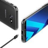 para el caso de Samsung A5 2017, contraportada anti delgada transparente cristalina del caso de resbalón del caso suave de TPU para la galaxia A5 2017 A520 de Samsung
